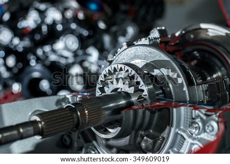 The mechanism of transmission - stock photo
