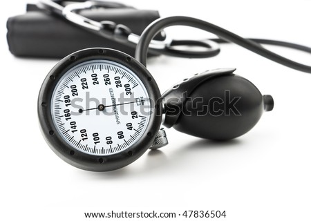 The medical device for blood pressure measurement - stock photo