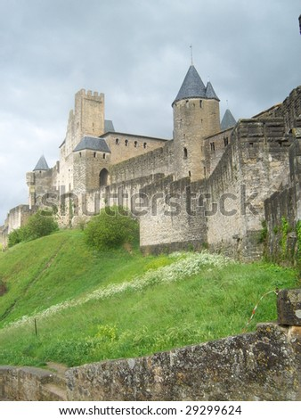 The medieval village of Carcassonne in France.