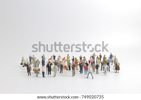 the meeting of the  many small figure
