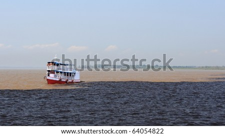 The meeting of waters - stock photo