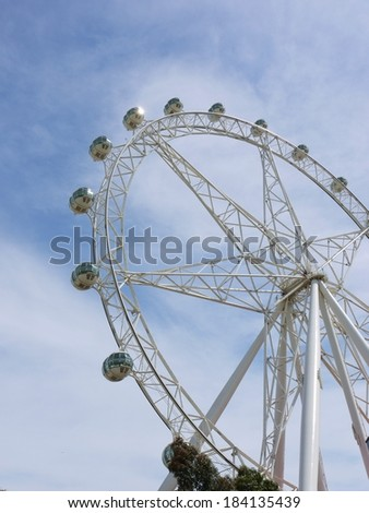 The Melbournestar observation wheel in Melbourne in Victoria in Australia  - stock photo