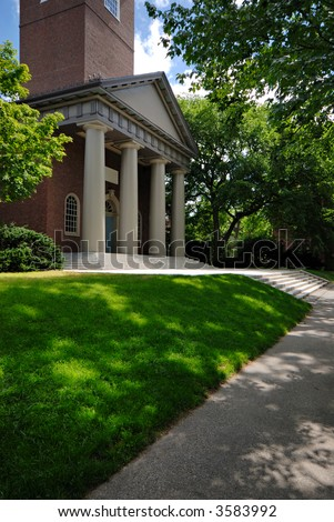 The Memorial Church in Harvard Yard