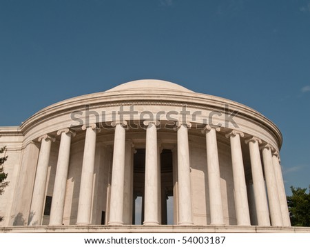 The memorial, in Washington, DC, is dedicated to Thomas Jefferson, the third president of the United States.