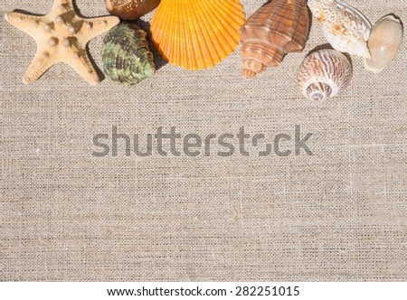 The memory of summer vacation - stock photo