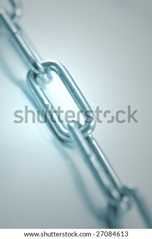 the metal chain close up