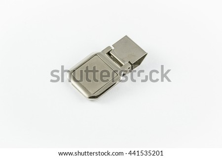 The metal clasp to hold the money - stock photo