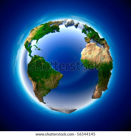 The metaphor of ecology and purity of the planet Earth - stock photo