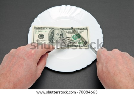 The metaphor of wealth and poverty - stock photo