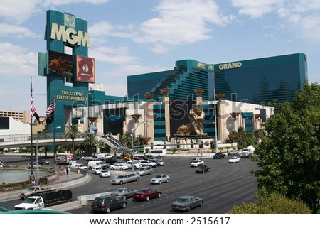 The MGM Grand and the Las Vegas Strip - stock photo