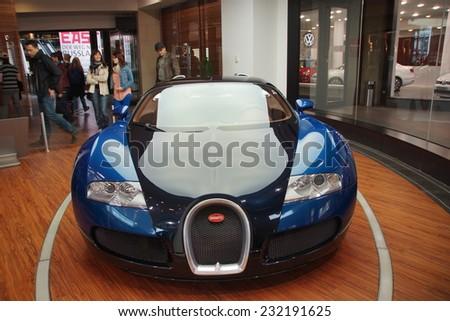 The mid-engined grand touring car Bugatti Veyron 16.4 - stock photo