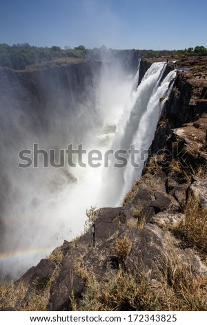 The Mighty Victoria Falls in Livingstone, Zambia, Africa