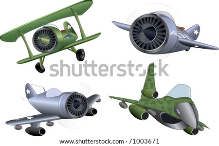 The military planes clip art - stock photo