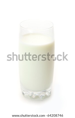 The milk in the glass isolated on white background