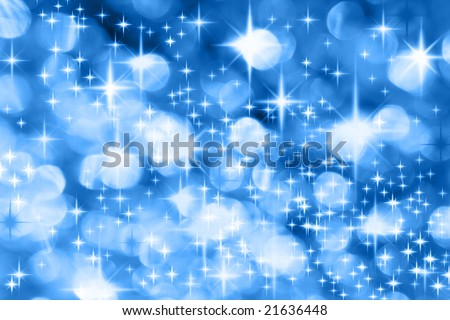 The Milky Way - Blue Christmas background with stars - stock photo
