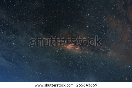 The Milky Way. Our galaxy. Long exposure photograph - stock photo