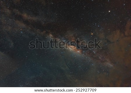 The Milky Way. Our galaxy. Long exposure photograph from indonesia - stock photo