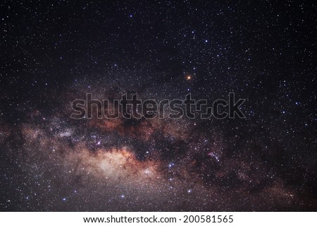 The Milky Way This is a galaxy near Earth most. - stock photo