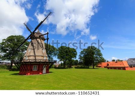 The mill in the kastellet in Copenhagen, Denmark - stock photo