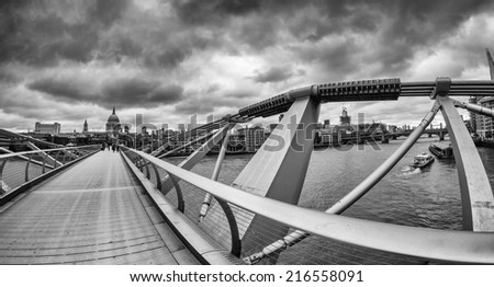 The Millennium Bridge, London. - stock photo