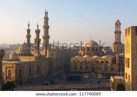 The minarets of Cairo, Egypt - stock photo