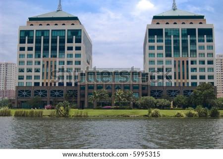 The Mines Waterfront Business Park located at Seri Kembangan, Selangor, Malaysia. - stock photo