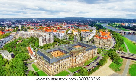 The Ministry of Finance of Saxony,city views one of the most beautiful city Germany- Dresden. Germany. - stock photo