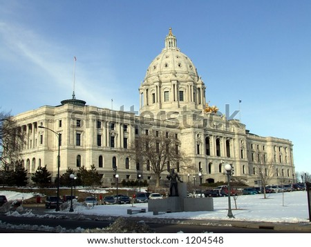 The Minnesota State Capitol Building - stock photo
