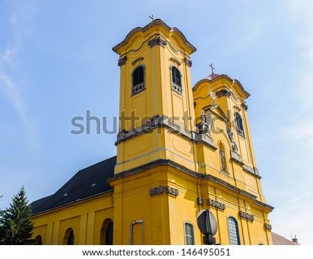 The minorite church of Eger, Hungary - stock photo