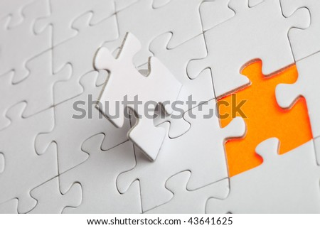 The missing piece - stock photo