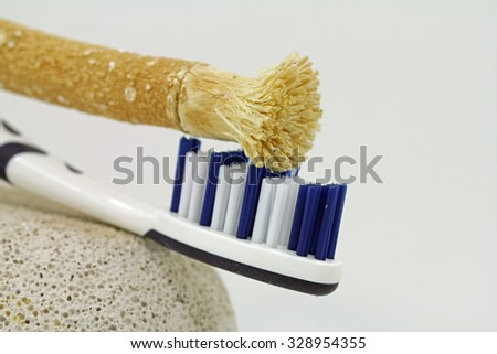 the Miswak is a traditional Arabic form of the toothbrush  - stock photo