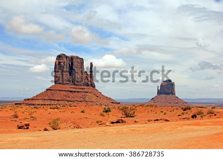 The Mittens in Monument Valley, Arizona, USA.