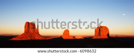 The Mittens, Monument Valley - stock photo