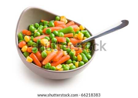 the mixed vegetables in bowl - stock photo