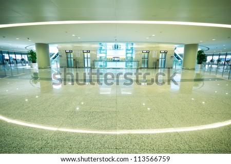 The modern airport interior architecture - stock photo