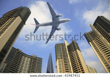 the modern building in shanghai. - stock photo