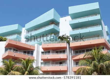 Modern Characteristic Look Buildings Miami Beach Stock Photo ...