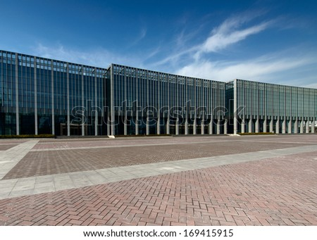 The modern city square - stock photo