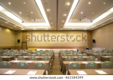 The modern conference room with chairs and tables blur background