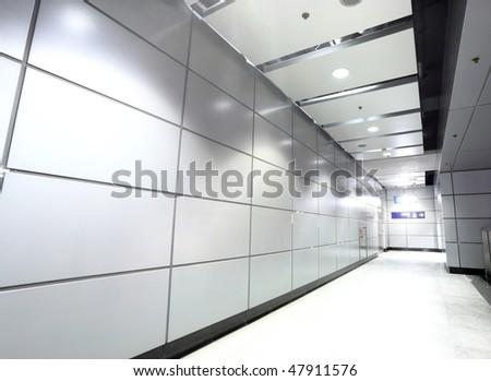 the modern corridor in building - stock photo