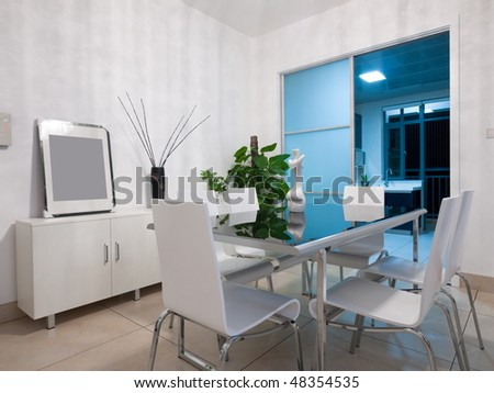 the modern dining room interior