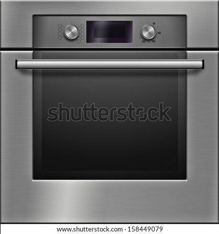 The modern electrical oven - high detailed realistic illustration - stock photo