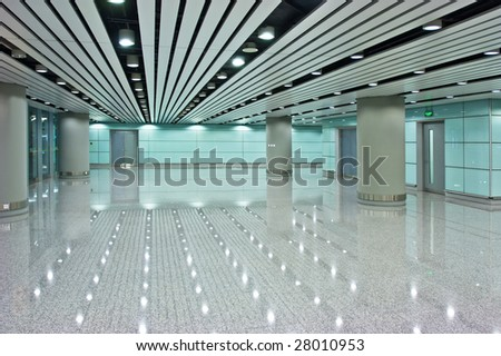 the modern hall in buildings - stock photo
