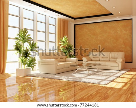 The modern interior of a hall - stock photo