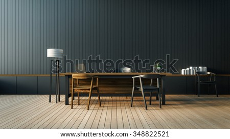 The modern interior of Boss office room / 3D render image - stock photo