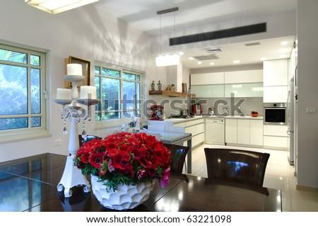 The modern kitchen - stock photo