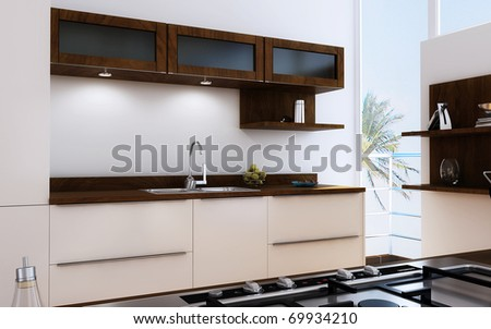 The modern kitchen interior design