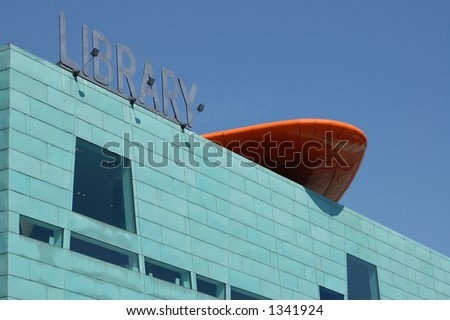 The modern Library in Peckham, London - stock photo