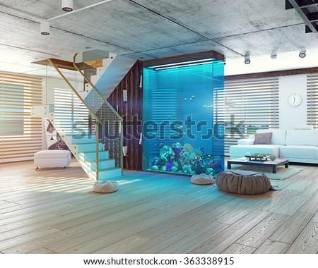 living room aquarium stock images, royalty-free images & vectors