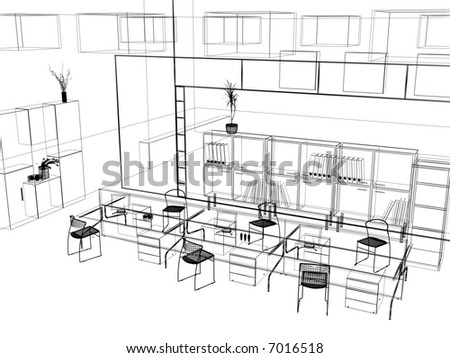 "Interior Design Office Sketches zastolskiy victor's ""office interior"" set on shutterstock"